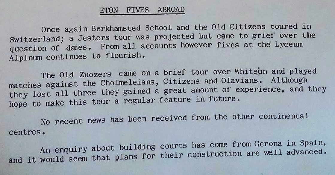 fives abroad 1971